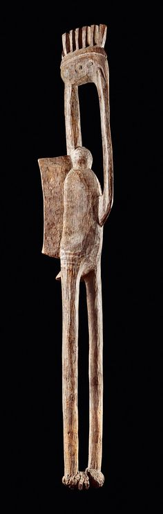 Africa | Bird sculpture from the Senufo people of the Ivory Coast | Wood | ca. prior to 1880 | Height 223 cms