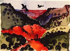 Georgia O'Keefe, Canyon With Crows, 1917