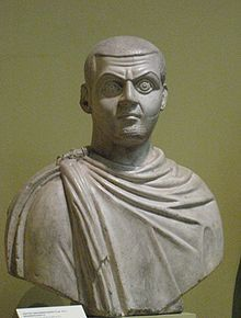 Maximinus II was the 55th Roman Emperor, and the adopted son of his maternal uncle, the Emperor Galerius. When Galerius, died in 311, Maximinus divided the Eastern Empire between Licinius and himself; later, however, he supported the rebellion of Maxentius and broke with Licinius. He was deposed in 312, and died shortly thereafter.