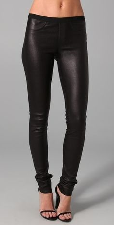 Helmut Lang Stretch Leather Pants - StyleSays