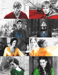 Arthur, Merlin, Gwen and Morgana (Merlin)... It seems like they're sorted into the four Hogwarts houses... Quite accurately, I might say...