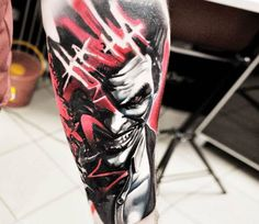 Joker tattoo by Jakub Hanus