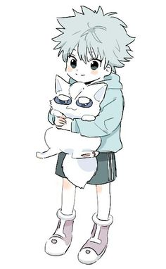 Killua kawaii awwwwwwwwwww *dies from cuteness overload* >w< ❤️❤️❤️