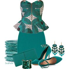 """""""Green With Envy"""" by sassafrasgal on Polyvore"""
