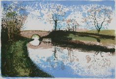 """""""Still Waters"""" by tim southall. Screenprint on Paper, Subject: Landscapes, sea and sky, Impressionistic style, From a limited edition of 50, Signed and numbered on the front, This artwork is sold unframed, Size: 26 x 20 cm (unframed), 10.24 x 7.87 in (unframed), Materials: water based silkscreen print on handmade Somerset 'Tub Sized' paper"""