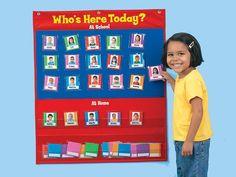 Classroom attendance - Who's Here Today Attendance Chart Preschool Charts, Preschool Rooms, Kindergarten Classroom, Classroom Activities, Classroom Attendance, Attendance Board, Preschool Attendance Ideas, Toddler Classroom, Future Classroom