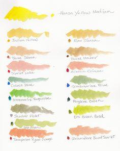 Daniel Smith Hansa Yellow Mixes