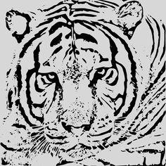 TIGER / TIGRE by @laftello, Face of a Tiger.Cara de un Tigre, on @openclipart