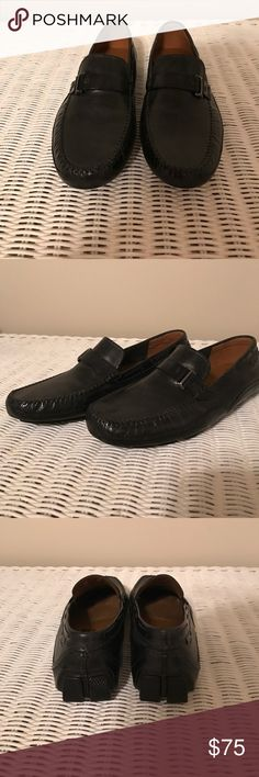 Clarks Ashmont Bit Black Leather Loafers Size 9.5 Clarks Ashmont Bit Black Leather Loafers Size 9.5 Driving Moccasins - Features: Full Grain Leather,  Imported, Rubber sole, Breathable leather, Barefoot footwear, Non-marking outsole, Padded upper, and Ortholite insole. Clarks Shoes Loafers & Slip-Ons