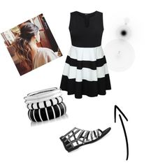 Black and White by tomboygirly184 on Polyvore featuring polyvore, fashion and style