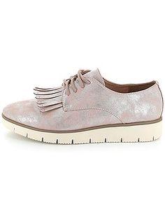 Zapatos con cordones - Zapatos derby irisados con plataforma y flecos - Kiabi 22€ Irises, Derby, Sneakers, Shoes, Fashion, Role Models, Fringes, Lanyards, Platform
