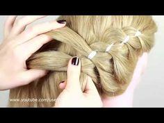 Trenza de 4 cabos con cinta   4 Strands braiding - YouTube