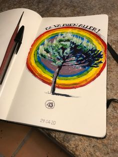 Ball pen work on Inspired by a tree and a rainbow. Moleskine, Watercolor Tattoo, Rainbow, Photo And Video, Inspired, Day, Inspiration, Instagram, Rainbows