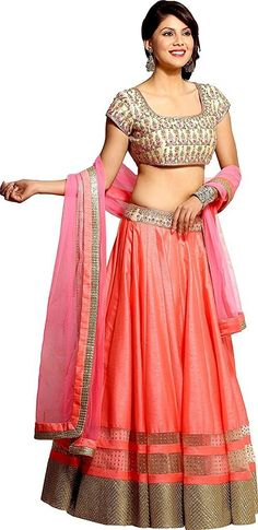 Kapadewala Latest Women's Pink Tafeta Silk Free Size XXL Semi-stitched Lehenga Choli Kapadewala Latest Women's Pink Tafeta Silk Free Size XXL Semi-stitched Lehenga Choli, Awesome Lehenga for a wedding,  festival,  functions,  parties or special occasion.