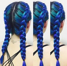 Feeling blue? 🔷🔷 @kissed__her 💙 certainly is (in a great, Manic Panic sort of…
