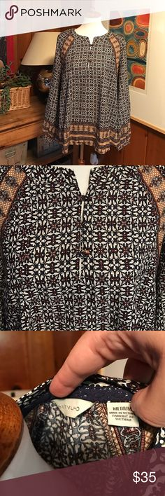 🆕Anthropologie bohemian top. Size Medium Flowy gorgeous top from Anthropologie. 💯 rayon. Perfect new piece for your wardrobe! 🍾🎁 Anthropologie Tops Blouses