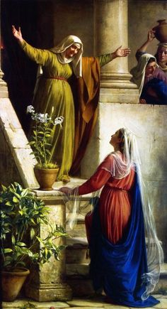 Visita de la Virgen María a su prima Santa Isabel