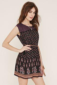 Belted Floral Dress - Women - 2000168548 - Forever 21 EU English