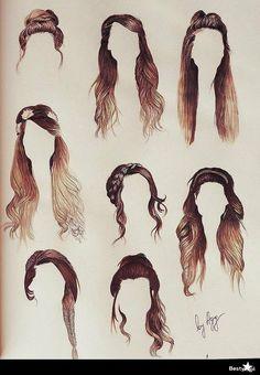 Kilka fryzur