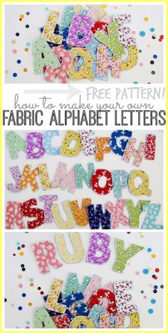 fabric alphabet letters, a how-to tutorial with free pattern, love this as a…