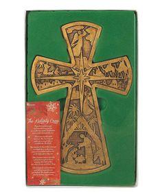 Another great find on #zulily! Antique Gold Nativity Cross Wall Art #zulilyfinds