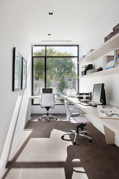 Loving The All White Colour Scheme For A Home Office. ~ Lorey New Home    Brighton   Contemporary   Home Office   Melbourne   Darren Comber Part 89