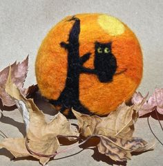 Halloween Felted Soap Owl in a Tree Silhouette Eco by Engelfelt, $12.00