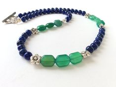 Hey, I found this really awesome Etsy listing at https://www.etsy.com/se-en/listing/476192076/lapis-lazuli-and-green-agate-necklace