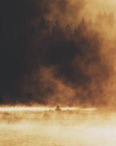 Burning lake.
