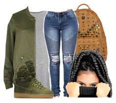 """Countdown ~ Beyonce"" by retrovintagepizza ❤ liked on Polyvore featuring Topshop, MCM, River Island and NIKE"