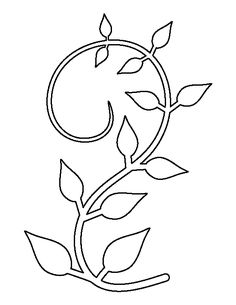 Vine pattern. Use the printable outline for crafts, creating stencils, scrapbooking, and more. Free PDF template to download and print at http://patternuniverse.com/download/vine-pattern/