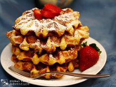 Makes about 6 waffles Liege waffles are dense, yeasty, and studded with pockets of sugar. When you eat one room temperature, the little bits of sugar crunch in your mouth – an unusual, but ad…