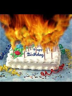 The Number Happy Birthday Meme Funny Birthday Cakes, Funny Happy Birthday Wishes, Happy Birthday Pictures, Happy Birthday Greetings, Birthday Humorous, Belated Birthday, Cake Birthday, Birthday Cake With Candles, Fire Department
