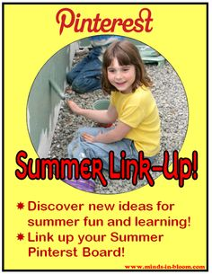 Check out ideas for summer learning and fun for kids of all ages at Minds in Bloom