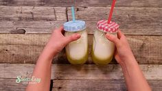 Speed & Easy: Pina Colada mal ganz anders Sweet & Easy, Glass Of Milk, Drinks, Food, Pina Colada, Pineapple Coconut, Drinking, Beverages, Essen