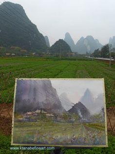 Keiko Tanabe Watercolor Paintings   (photo taken in Yangshuo, China, April 2015)
