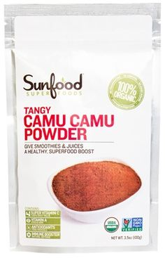 Sunfood Tangy Camu Camu Powder http://www.onegreenplanet.org/vegan-health/camu-camu-can-you-why-you-should-add-this-superfruit-to-your-daily-diet/2/