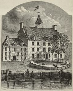 Old Stadt Huys, New Amsterdam - New York, NY, USA, circa 1679
