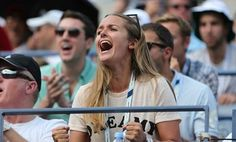 Kim cheering Andy on at the US Open 1/9/14