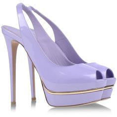 Le Silla Open Toe ($330) ❤ liked on Polyvore featuring shoes, pumps, heels, high heels, purple, lilac, spiked high heel shoes, purple leather shoes, leather sole shoes and open toe shoes