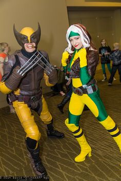 Characters: Wolverine (James Howlett, aka Logan) & Rogue (Anna Marie) / From: MARVEL Comics 'X-Men' / Cosplayers: Unknown