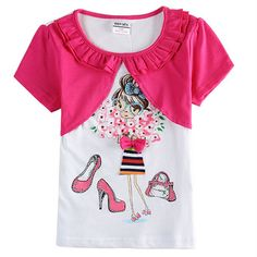 new arrival retail children t shirts fashion novatx brand summer style baby girl t shirt summer style causal girl clothes bow