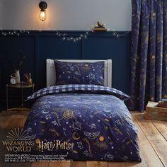 Cute Bedroom Ideas, Bedroom Themes, Bedroom Decor, Blue Bedroom, Dream Bedroom, Harry Potter Girl, Harry Potter Bedroom, Harry Potter Curtains, Ravenclaw