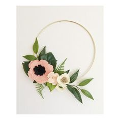 Wreath Wreaths Flower Wreath Spring Wreath by alisonmichel