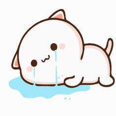 Cute Anime Cat, Cute Bunny Cartoon, Cute Kawaii Animals, Cute Cartoon Pictures, Cute Love Cartoons, Cute Cat Gif, Cute Bear Drawings, Cute Cartoon Drawings, Chibi Cat