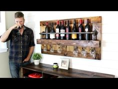 The Industrial Wine Rack - DIY Project - YouTube