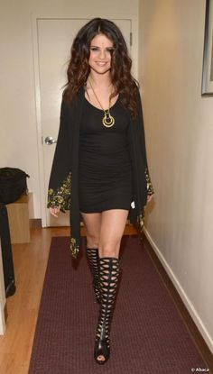 Selena Gomez Thigh High Boots | Selena Gomez The Late Show With David Letterman April 24 2013