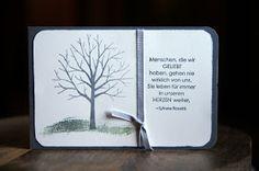 Ihr Lieben! In meinem Kartenworkshop habe ich auch gezeigt, mit wie einfachen Mitteln man eine Trauerkarte erstellen kann.  Grundlage war ei...