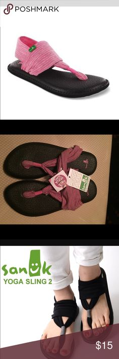YOGA SLING GIRLS For a flat sandal that can take your little one from her yoga class to the mall, Sanuk has brought her the Yoga Sling sandal. They are the perfect trendy sandal that will give her everyday comfort thanks to the cushioned footbed. Sanuk Shoes Sandals