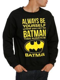 DC Comics Batman Be Yourself Crew Pullover